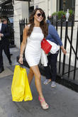 Lizzie Cundy spotted shopping in Central London