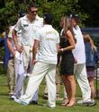 Elizabeth Hurley, Kevin Pietersen and Damian Martyn