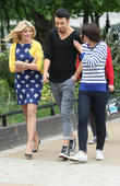 Holly Willoughby, Rylan Clark and Emma Willis