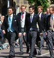 Prince William, Prince Harry and Thomas van Straubenzee