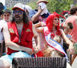Judah Friedlander and Queen Mermaid Carole Radziwill