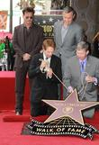 Johnny Depp, Bob Iger, Jerry Bruckheimer and Leron Gubler