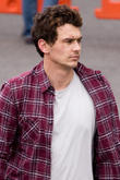 Kate Hudson and James Franco seen filming scenes  for their new film 'Good People' in East London