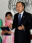 Malala Yousafzai and Ban Ki Moon