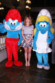 Jayma Mays and Smurfs