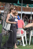 Selma Blair with her son Arthur Saint Bliec at the  Farmers Market