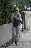 Julianne Hough stops at a Starbucks in Beverly Hills