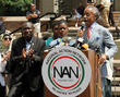 Al Sharpton, Benjamin Crump, Jahvaris Fulton and Sabrina Fulton