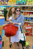 Actress Selma Blair is seen shopping at Trader Joe's and later heads to an ATM  machine