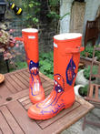 Ronnie Wood, Orange Wellies and Wellington Boots
