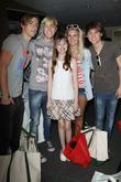 Rocky, Ellington Ratliff Lynch, Riker Lynch and Rydel Lynch of the band R5 with Emily