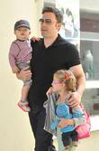 Ben Affleck, Samuel Affleck and Violet Affleck