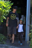 Anthony Kiedis and Everly Bear