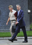 Defence Secretary Philip Hammond (R) and the Chief of Defence Staff General Sir Nicholas Houghton (L)