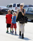 Gwen Stefani, Kingston Rossdale and Zuma Rossdale