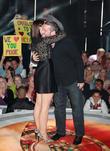Dustin Diamond and Emma Willis