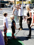Gavin Rossdale and his kids visit a Farmers Market