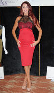 Amy Childs at the launch of her Autumn/Winter range at the Melia White House Hotel - Photocall