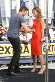 Hugh Jackman and Maria Menounos