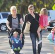Jennifer Garner, Violet Affleck, Seraphina Affleck and Samuel Affleck
