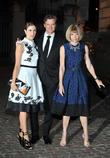 Livia Giuggioli, Colin Firth and Anna Wintour