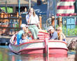Melissa Joan Hart, Mark Wilkerson, Mason Walter Wilkerson, Braydon Hart Wilkerson, Tucker McFadden Wilkerson, Disneyland