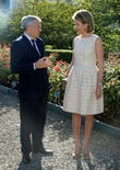 Didier Reynders and Queen Mathilde