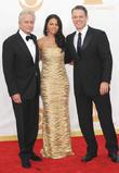 Michael Douglas, Luciana Barroso and Matt Damon
