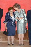 Princess Margarita De Borbon and Queen Sofia