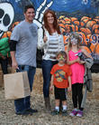Angie Everhart, Fritz Pfnur, Kayden Bobby Everhart and Guest