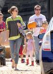 Mark Wahlberg, Rhea Durham, Ella Rae Wahlberg and Grace Margaret Wahlberg