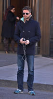 Actor Topher Grace leaving his hotel in New...