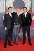 Tom Hiddleston, Alan Taylor and Chris Hemsworth