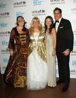 Gillian Hearst, Caryl Stern, Danielle Abraham Jamie Jimenez and Unicef