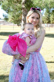 Holly Madison and Rainbow Aurora Rotella