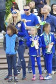 Heidi Klum, Johan Samuel, Leni Samuel, Martin Kristen, Disneyland