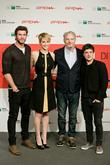 Liam Hemsworth, Francis Lawrence, Jennifer Lawrence and Josh Hutcherson