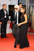 Karl Lagerfeld and Victoria Beckham