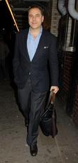 Celebrities leave the Noel Coward Theatre