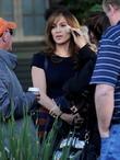 Jennifer Lopez With Twins On Filmset