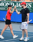 Chris Evert, David Cook, Delray Beach Tennis Center