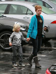 Zuma Rossdale and Nanny