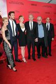 Elizabeth Banks, Liam Hemsworth, Jennifer Lawrence, Francis Lawrence, Phillip Seymour Hoffman and Stanley Tucci