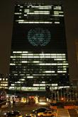 David Guetta and Exterior of UN