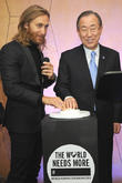 David Guetta and Ban Ki-moon