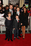 David Beckham, Victoria Beckham, Brooklyn Beckham, Romeo Beckham and Cruz Beckham