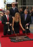Mitch O'Farrell, Tommy Mottola, Thalia, Leron Gubler, on the Hollywood Walk of Fame