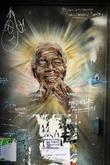 Nelson Mandela, Brick Lane London.
