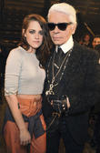 Kristen Stewart and Karl Lagerfeld