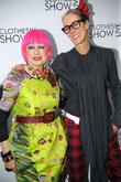 Zandra Rhodes and Caryn Franklin